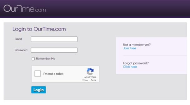OurTime Sign-up